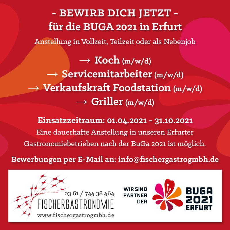 Bewirb dich jetzt für die BUGA 2021 in Erfurt!